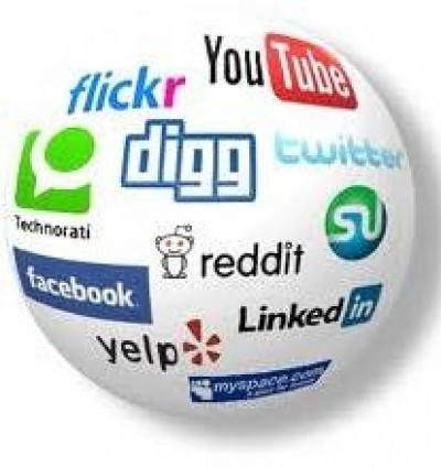 Facebook, LinkedIn, Twitter, Google+, Instagram, YouTube